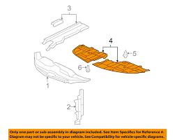lexus es 350 radiator lexus oem 5144133090 07 09 es350 splash shields under cover right