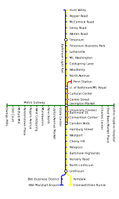 Mta Metro North Map by Mta Maryland Metro Subway Transitamerica Car 178 Entering The
