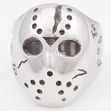 Jason Mask Black Friday Hockey Jason Mask Skull Rings Novel Mens 316l
