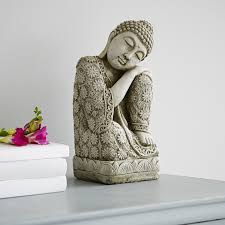 bring a little zen into your home with this serene buddha statue