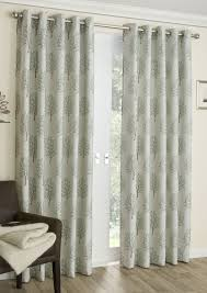 Thermal Curtain Liner Eyelet by Mulberry Sage Print Interlined Eyelet Curtains Com