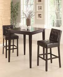 coaster dining room sets furniture coaster piece cappuccino square pub bar table with