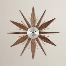 mid century modern wall clock mid century clock etsy