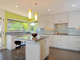 Quarter Sawn White Oak Kitchen Cabinets White Varnished Wooden - Wall mounted kitchen cabinets