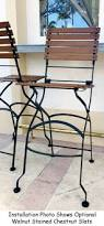 french bistro cafe folding bar chair