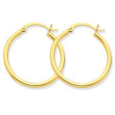 gold hoops modest hoop earrings in 10 karat yellow gold hinged nsnse16229a
