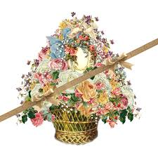 vintage easter baskets vintage easter basket transparent background png doves eggs