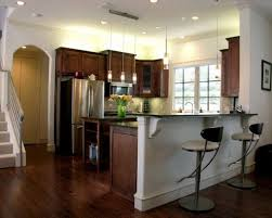 Small Kitchen Design With Peninsula Half Wall Kitchen Designs Kitchen Peninsula Kitchen Peninsula