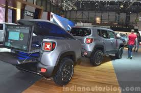 jeep renegade dashboard jeep renegade hard steel concept trailer with tow bar indian