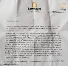barrowford primary headteacher u0027s inspirational letter to