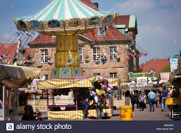 merry go and festival stalls at may week osnabrück lower