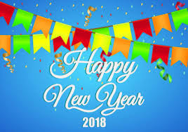 happy new year backdrop background of happy new year 2018 free vector
