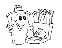 junk food coloring pages coloring pages amp pictures imagixs