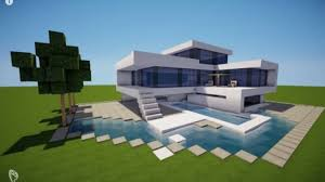 minecraft modern house with yacht