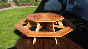 How To Build A Wooden Octagon Picnic Table by 13 Free Picnic Table Plans In All Shapes And Sizes