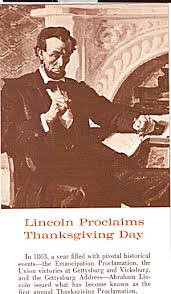abraham lincoln thanksgiving day proclamation click on the image