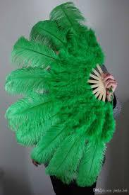 feather fan 2018 green marabou ostrich fether fan large feather fan