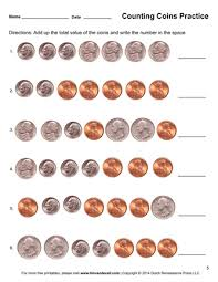 free worksheets worksheets on counting money for 1st grade