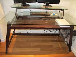 Glass Desks For Home Office by 94 Stunning Glass And Wood Desk Photos Ideas Home Decor Wuwizz