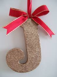 glitter initial hanging tree decoration folksy