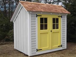 Exterior Shed Doors Shed Doors This Saltbox Style Shed Has
