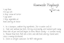 Printable Playdough Recipes   homemade playdough printable recipe card the crazy craft lady