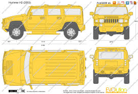 humvee clipart the blueprints com vector drawing hummer h2