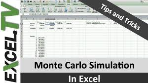 Monte Carlo Simulation Excel Template Monte Carlo Simulation Formula In Excel Tutorial And