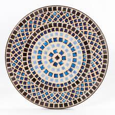 alfresco home tremiti mosaic outdoor bistro table ultimate patio