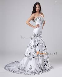 white and black wedding dresses wedding dresses black and white strapless wedding dress