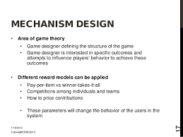 game design theory mechanism design area of
