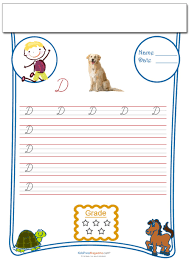 cursive writing worksheet letter d activities worksheets and