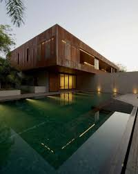 Home Design Architects Contemporary Two Storey Diya Residence Located In Ahmedabad India