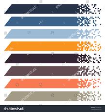 set color modern pixel banners headers stock vector 525335833
