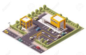 isometric floor plan vector isometric carwash building icon royalty free cliparts
