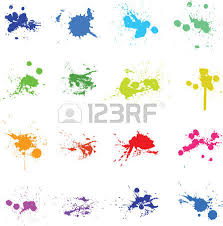 colorful abstract paint splash christmas tree royalty free