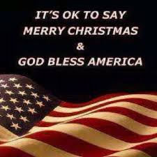 in america we say merry god bless america and if
