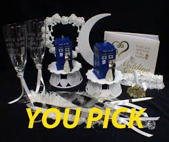 tardis cake topper you groom wedding cake topper w dr who doctor