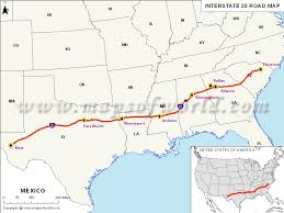 und cus map interstate 20 i 20 map usa from kent to florence
