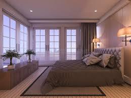 chambre romantique avec 3d rendant la chambre à coucher de luxe romantique avec l usine