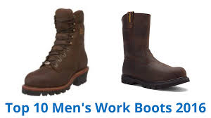 10 best men u0027s work boots 2016 youtube