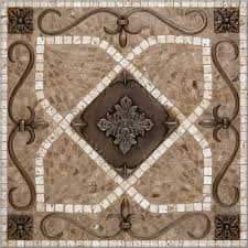 living a beautiful life foyer floor medallion mosaic pebble