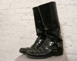 womens size 9 in mens boots 70s biker boots etsy