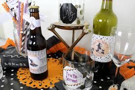 halloween wine labels halloween drink labels