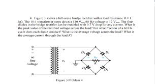 figure shows a full wave bridge rectifier wit chegg com with load