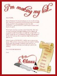 printable santa list letter template