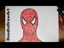 drawing draw spider man step step easy drawing