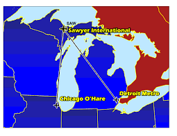 Detroit Metro Airport Map Marquette County Sawyer International Airport