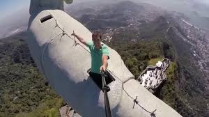 view from the top of christ the redeemer statue in rio de janeiro