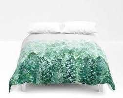 green bedding etsy